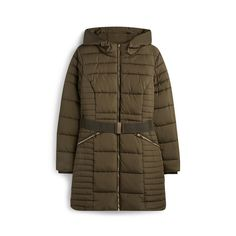 Khaki Belted Padded Coat | Coats | Coats & jackets | Clothing | Womens | Categories | Primark UK Coats For Women, Ladies Coats, Jackets For Women, Clothes For Women, Primark Uk, Winter Jackets, Winter Coats, Yorkshire, Lady