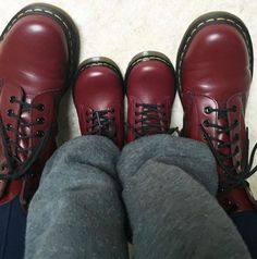 Cherry Reds 1460s and the Delaney Boot: Shared by ashleyjnye on Instagram.