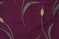 572911 VIOLET BLOOM Chenille Fabric