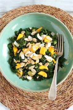 Kale, Mango and Avocado Salad // Healthy Food for Living