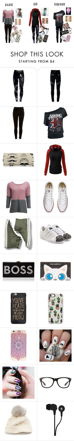 """Hanging Out With The Squad"" by fuzzyrainbow ❤ liked on Polyvore featuring Givenchy, River Island, Carve Designs, Converse, Keds, adidas Originals, Milly, Karl Lagerfeld, Casetify and SIJJL"