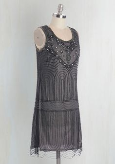$169.00  Philharmonic of Time Dress in Smoke | Mod Retro Vintage Dresses | ModCloth.com