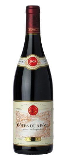 2009 E. Guigal Côtes du Rhône always a good choice, very nice wine....s