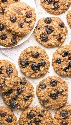 Healthy Blueberry Banana Oatmeal Cookies
