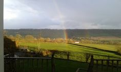 Rainbow over us this afternoon.  March 3rd 2014.