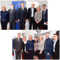 """At the Inauguration of the new asociation: """"Never alone - Friends of the elderly""""; Together with Prince Radu of Hohenzollern-Veringen and the Board Comitee."""