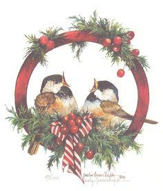 Christmas Song 8 x 8 lithograph | CShoresInc - Print on ArtFire