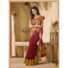 Indian Beauty Multi Color Silk Saree