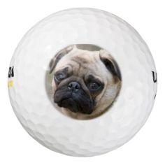 #Puggy McPugface Puppy Golf Balls - #rottweiler #puppy #rottweilers #dog #dogs #pet #pets #cute