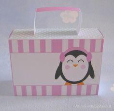 Pinguïn meisje traktatie koffertje