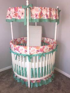 Floral Blanket Mermaid Bedding Seashell Room Decor Ocean Nursery Boho Crib Bedding Fitted Sheets- Change Pad- Boppy- Crib Skirt
