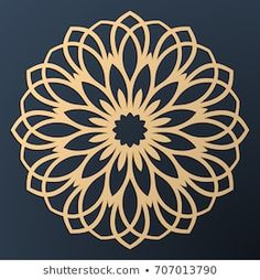 Find Laser Cutting Mandala Golden Floral Pattern stock images in HD and millions of other royalty-free stock photos, illustrations and vectors in the Shutterstock collection. Mandala Art, Mandala Design, Stencils Mandala, Geometric Mandala, Mandala Drawing, Stencil Patterns, Mandala Pattern, Stencil Designs, Mandala Tattoo