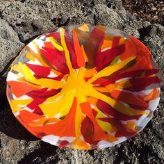 Golden Sun Fused Glass Bowl