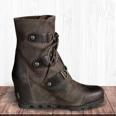 new styles 8264d 1dd9e Wedge Waterproof Artificial Leather Boots – luckinbag