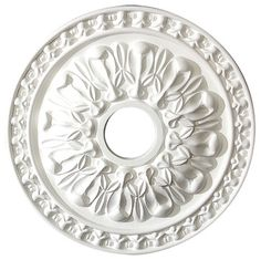 """18"""" Decorative Architectural Ceiling Medallion, White traditional-ceiling-medallions"""