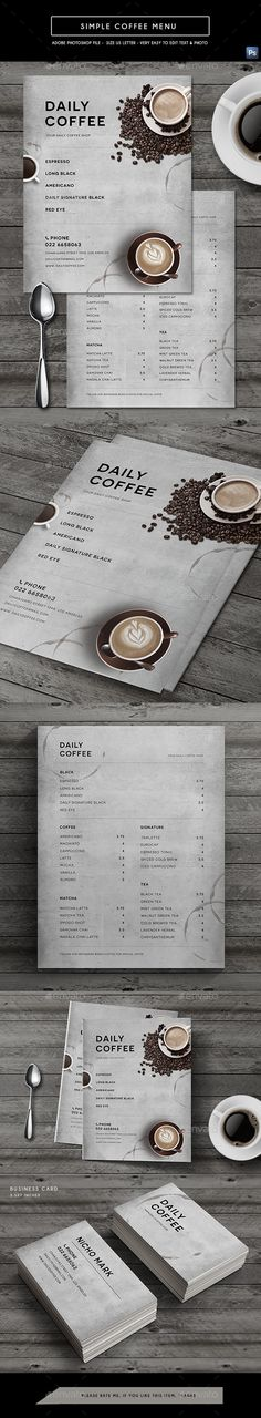 Simple Coffee Menu — Photoshop PSD #simple #espresso • Download ➝ https://graphicriver.net/item/simple-coffee-menu/21529038?ref=pxcr