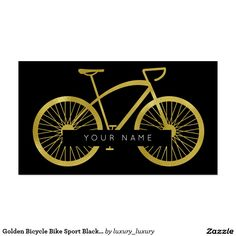 Golden Bicycle Bike Sport Black Vip Pack Of Standard Business Cards