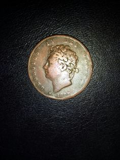 King George 4th 1825 penny.