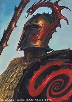 The Haradrim or Southrons were the proud and warlike people of the Harad, in the south of Middle-earth. Ancient enemies of Gondor, they allied with Sauron during the War of the Ring. Tolkien Books, Jrr Tolkien, Fantasy Warrior, Sci Fi Fantasy, John Howe, Armadura Medieval, Ecole Art, Dark Lord, Medieval Art