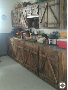 Rustic Barn Kitchen Garden Fencing, Fence, Buffet, Storage, Cabinet, Rustic, Living Room, Modern Moroccan, Ideas