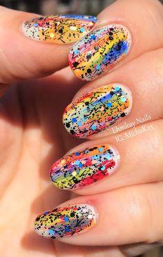 ehmkay nails: OPI Graffiti Nail Art with To Be or Not to Beagle