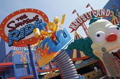 The Simpsons Ride - Universal Studios. California.