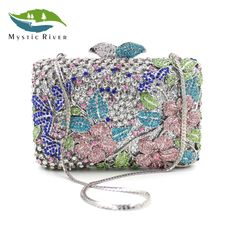 ==> [Free Shipping] Buy Best Mystic River Luxury Crystal Evening Bag Women Wedding Purses Lady Party Clutch Bag Green Blue Gold White Online with LOWEST Price | 32813771786