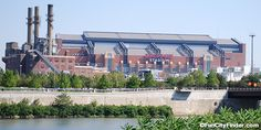 Distant view of Lucas Oil Stadium Lucas Oil Stadium, Indianapolis Indiana, Home Again, Marina Bay Sands, Photograph, Exterior, Mansions, Usa, House Styles