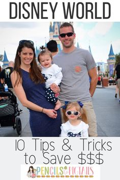 I'm sharing my top 10 money saving tips and tricks for your next Disney World Vacation! Find easy ways to plan a trip to Disney on a budget! #disneyworld #disneytipsandtricks #disneyonabudget #disneyworldtips #disney
