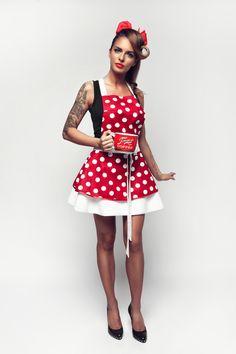 Šatová kuchynská zástera Retro Dots apron pinup   #zastera #apron#dots#kuchynskazastera #retro #pinupapron #pinup #kitchen #madeinslovakia #kuchyna #cukraren #pecenie