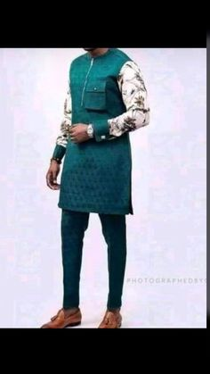 African Wear Styles For Men, African Dresses Men, African Attire For Men, African Clothing For Men, African Fashion Ankara, African Print Fashion, Trendy Mens Fashion, Suit Fashion, Nigerian Men Fashion