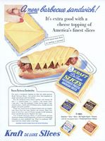 Kraft Deluxe American Cheese 1955 Ad Picture