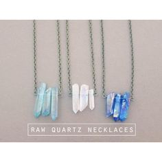 Hipster Quartz Crystal Necklace Grunge Blue Crystal Necklace Teal... ($17) ❤ liked on Polyvore featuring jewelry, necklaces, teal necklace, blue necklace, crystal necklace, crystal jewelry and gothic necklaces