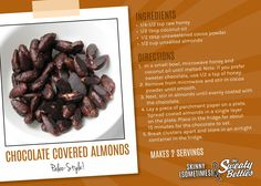 Chocolate covered almonds, #paleo style!