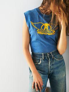 Vintage Loves Vintage Aerosmith Tour Tank at Free People Clothing Boutique