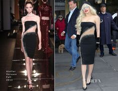 Lady Gaga In Atelier Versace – Out In New York City