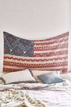 Magical Thinking Bandhani Americana Tapestry from Urban Outfitters. Saved to Future living. Decor, Room, My Room, Wall Tapestry, Tapestry, Dorm Decorations, Home Decor, Room Inspiration, Apartment Decor