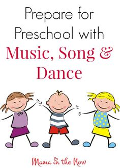 Get Preschool Ready with Music! Prepare for preschool with music, song and dance. A mother of four shares her best tips and tricks with young families. Preschool Music, Preschool At Home, Music Activities, Preschool Classroom, Teaching Music, Preschool Learning, Toddler Preschool, Educational Activities, Early Learning