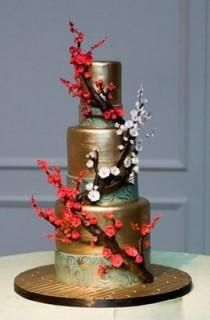 Golden Branches Cake