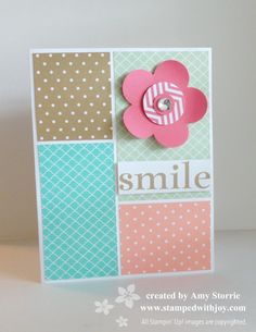 Delightful yet quick and easy card that would be a great use of scraps!