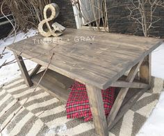 Rustic Coffee Table   Ana White   DIY Coffee Table   Farmhouse Coffee Table   Rustic X Coffee Table   Farmhouse Décor   Rustic Décor   Cottage Style   Home Décor