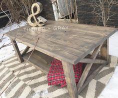 rustic coffee table | ana white | diy coffee table | farmhouse