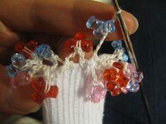 how to do crochet beaded socks - Google Search