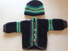 A personal favorite from my Etsy shop https://www.etsy.com/listing/252791276/crochet-baby-set-crochet-baby-sweater