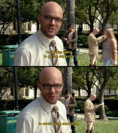 Jeff Winger as Dean Pelton on Community. Community Memes, Community Tv Show, Community College, T Bone, Parks And Rec Memes, Brooklyn 9 9, Workout Routines For Beginners, Tv Shows Funny, Funny Memes