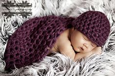 Purple Baby Bowl And Hat Set