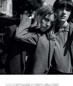 "Helena Severin & Annely Bouma by Annemarieke Van Drimmelen / ""The Boys Club"" / Muse Magazine, Winter 2014"
