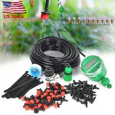 82-Feet-DIY-Micro-Drip-Irrigation-System-Plant-Garden-Hose-Self-Watering-Kit Sprinkler Irrigation, Drip Irrigation System, Garden Hose, Garden Plants, Irrigation Controller, Water Timer, Rain Bird, Self Watering, Kit