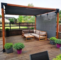 A pergola gives a secluded region and shade in the summertime. A pergola is something which will fall in that category. Then pergola is a superb choice. There's nothing quite like a gorgeous, modern-day pergola in order to add value… Continue Reading → Backyard Shade, Patio Shade, Backyard Patio Designs, Pergola Shade, Pergola Designs, Patio Ideas, Shade For Deck, Shade Ideas For Backyard, Patio Kits