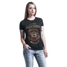 Five Finger Death Punch  T-Shirt  »Military Badge« | Buy now at EMP | More Band merch  T-shirts  available online ✓ Unbeatable prices!